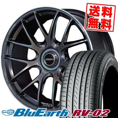 225/45R19 96W XL YOKOHAMA ヨコハマ BLUE EARTH RV02 ブルーアース RV-02 RAYS VOLKRACING G27 レイズ ボルクレーシング G27 サマータイヤホイール4本セット