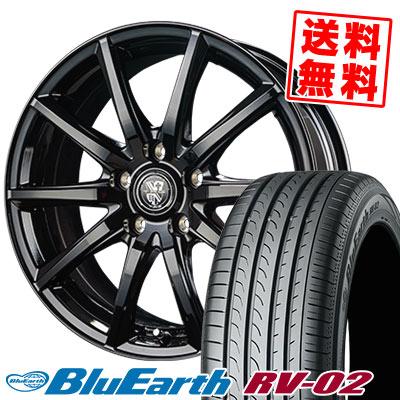 195/65R15 91H YOKOHAMA ヨコハマ BLUE EARTH RV02 ブルーアース RV-02 TRG-GB10 TRG GB10 サマータイヤホイール4本セット