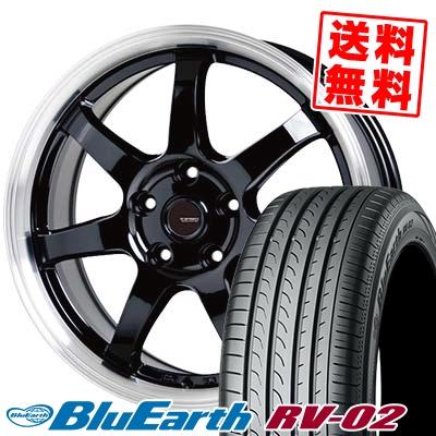 215/45R18 93W XL YOKOHAMA ヨコハマ BLUE EARTH RV02 ブルーアース RV02 G.speed P-03 ジースピード P-03 サマータイヤホイール4本セット