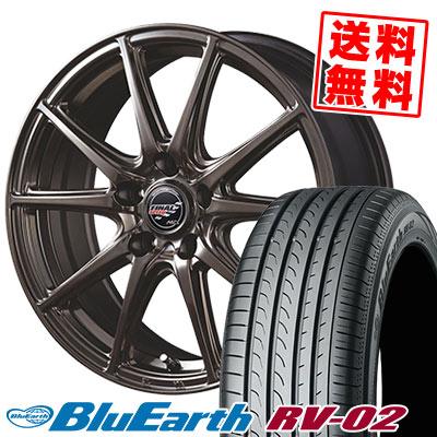 215/55R18 99V XL YOKOHAMA ヨコハマ BLUE EARTH RV02 ブルーアース RV-02 FINALSPEED GR-Volt ファイナルスピード GRボルト サマータイヤホイール4本セット