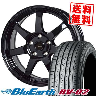 205/60R16 92H YOKOHAMA ヨコハマ BLUE EARTH RV02 ブルーアース RV-02 G.speed G-03 Gスピード G-03 サマータイヤホイール4本セット