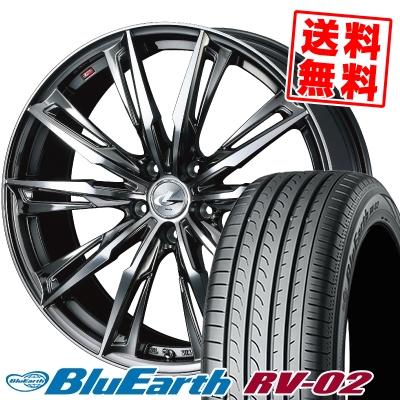 245/40R20 99W XL YOKOHAMA ヨコハマ BLUE EARTH RV02 ブルーアース RV-02 WEDS LEONIS GX ウェッズ レオニス GX サマータイヤホイール4本セット