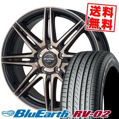 195/65R15 91H YOKOHAMA ヨコハマ BLUE EARTH RV02 ブルーアース RV-02 JP STYLE JERIVA JPスタイル ジェリバ サマータイヤホイール4本セット