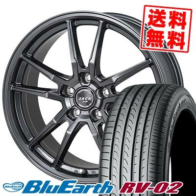 195/65R15 91H YOKOHAMA ヨコハマ BLUE EARTH RV02 ブルーアース RV-02 ZACK JP-520 ザック ジェイピー520 サマータイヤホイール4本セット