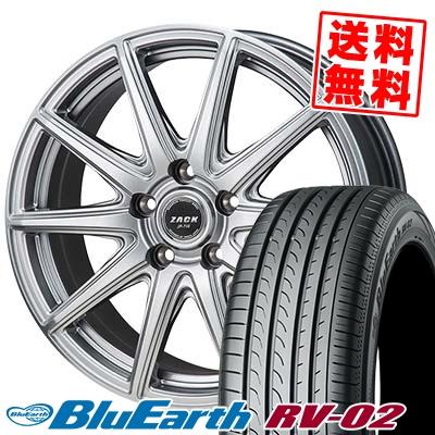 215/50R17 95V XL YOKOHAMA ヨコハマ BLUE EARTH RV02 ブルーアース RV-02 ZACK JP-710 ザック ジェイピー710 サマータイヤホイール4本セット【取付対象】
