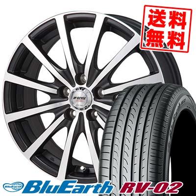 205/65R16 95H YOKOHAMA ヨコハマ BLUE EARTH RV02 ブルーアース RV-02 JP STYLE Shangly JPスタイル シャングリー サマータイヤホイール4本セット