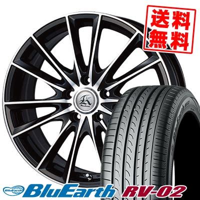 225/50R18 95V YOKOHAMA ヨコハマ BLUE EARTH RV02 ブルーアース RV-02 Kashina FV7 カシーナ FV7 サマータイヤホイール4本セット