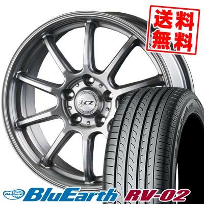 195/65R15 91H YOKOHAMA ヨコハマ BLUE EARTH RV02 ブルーアース RV-02 LCZ010 LCZ010 サマータイヤホイール4本セット