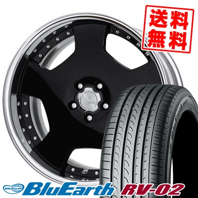 245/40R20 99W XL YOKOHAMA ヨコハマ BLUE EARTH RV02 ブルーアース RV02 WORK LANVEC LD1 ワーク ランベック エルディーワン サマータイヤホイール4本セット