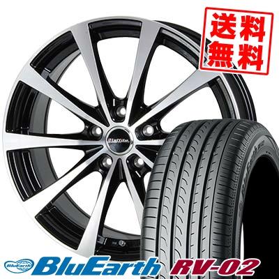 215/55R18 99V XL YOKOHAMA ヨコハマ BLUE EARTH RV02 ブルーアース RV-02 Laffite LE-03 ラフィット LE-03 サマータイヤホイール4本セット