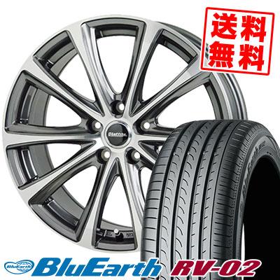 215/65R15 96H YOKOHAMA ヨコハマ BLUE EARTH RV02 ブルーアース RV-02 Laffite LE-04 ラフィット LE-04 サマータイヤホイール4本セット