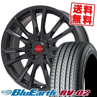 215/55R17 94V YOKOHAMA ヨコハマ BLUE EARTH RV02 ブルーアース RV-02 LeyBahn GBX レイバーン GBX サマータイヤホイール4本セット