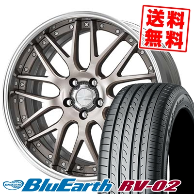 245/35R20 95W XL YOKOHAMA ヨコハマ BLUE EARTH RV02 ブルーアース RV-02 WORK LANVEC LM1 ワーク ランベック エルエムワン サマータイヤホイール4本セット