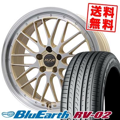 245/40R20 YOKOHAMA ヨコハマ BLUE EARTH RV02 ブルーアース RV02 Leycross REZERVA レイクロス レゼルヴァ サマータイヤホイール4本セット