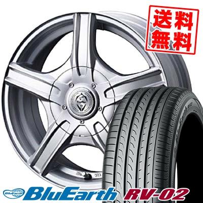 215/65R16 YOKOHAMA ヨコハマ BLUE EARTH RV02 ブルーアース RV02 Treffer MH トレファーMH サマータイヤホイール4本セット