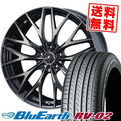 195/65R15 91H YOKOHAMA ヨコハマ BLUE EARTH RV02 ブルーアース RV-02 weds LEONIS MX ウェッズ レオニス MX サマータイヤホイール4本セット