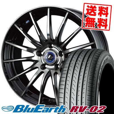 205/65R16 95H YOKOHAMA ヨコハマ BLUE EARTH RV02 ブルーアース RV-02 weds LEONIS NAVIA 05 ウエッズ レオニス ナヴィア 05 サマータイヤホイール4本セット