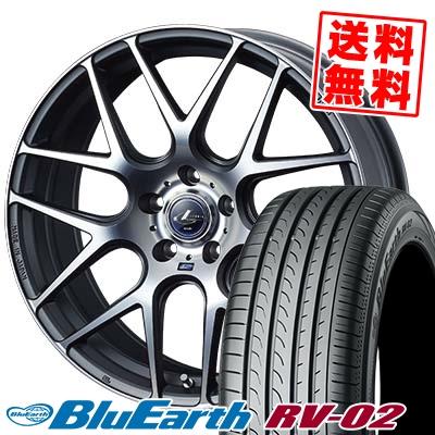 215/60R17 96H YOKOHAMA ヨコハマ BLUE EARTH RV02 ブルーアース RV-02 WEDS LEONIS NAVIA06 ウェッズ レオニス ナヴィア06 サマータイヤホイール4本セット