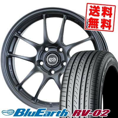 品質検査済 225 ヨコハマ/55R18 98V YOKOHAMA RV02 ヨコハマ BLUE PF-01 EARTH RV02 ブルーアース RV02 ENKEI PerformanceLine PF-01 エンケイ パフォーマンスライン PF01 サマータイヤホイール4本セット【取付対象】, 古着屋JAM:76bb461f --- delivery.lasate.cl