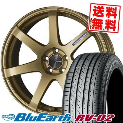 245/45R19 98W YOKOHAMA ヨコハマ BLUE EARTH RV02 ブルーアース RV-02 ENKEI PerformanceLine PF-07 エンケイ パフォーマンスライン PF07 サマータイヤホイール4本セット