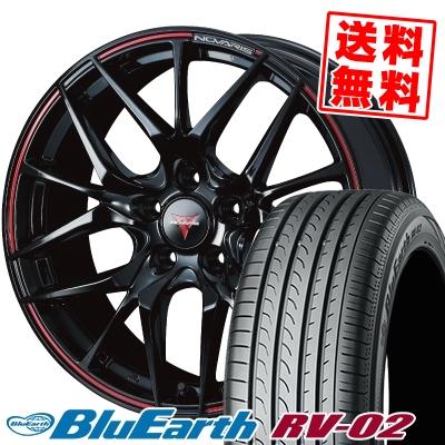 225/45R18 95W XL YOKOHAMA ヨコハマ BLUE EARTH RV02 ブルーアース RV-02 WEDS NOVARIS ROHGUE SH ウェッズ ノヴァリス ローグ SH サマータイヤホイール4本セット
