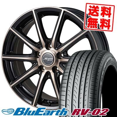 215/65R15 96H YOKOHAMA ヨコハマ BLUE EARTH RV02 ブルーアース RV-02 MONZA R VERSION Sprint モンツァ Rヴァージョン スプリント サマータイヤホイール4本セット