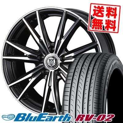 205/65R16 95H YOKOHAMA ヨコハマ BLUE EARTH RV02 ブルーアース RV-02 WEDS RIZLEY DK ウェッズ ライツレーDK サマータイヤホイール4本セット