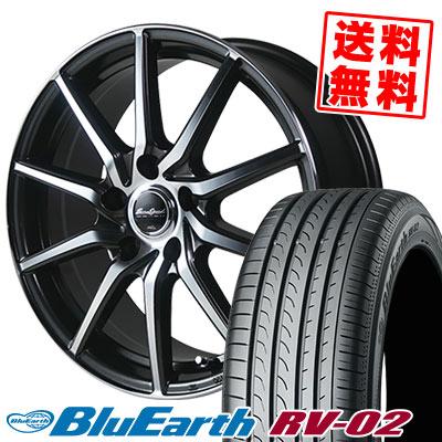 205/65R16 95H YOKOHAMA ヨコハマ BLUE EARTH RV02 ブルーアース RV-02 EuroSpeed S810 ユーロスピード S810 サマータイヤホイール4本セット