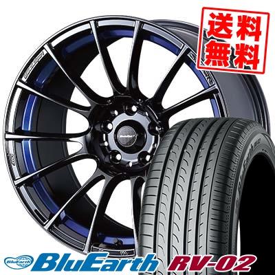 18インチ YOKOHAMA ヨコハマ BLUE EARTH RV02 ブルーアース RV-02 235 新作 大人気 50 WedsSport サマータイヤホイール4本セット サマーホイールセット 50R18 希少 235-50-18 取付対象 SA-72R 18 ウェッズスポーツ 97V