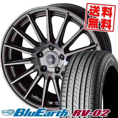 245/35R20 95W XL YOKOHAMA ヨコハマ BLUE EARTH RV02 ブルーアース RV02 2080-5H シュタイナー フォースドシリーズ SF-X サマータイヤホイール4本セット