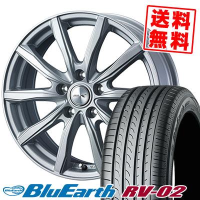 195/65R15 91H YOKOHAMA ヨコハマ BLUE EARTH RV02 ブルーアース RV-02 JOKER SHAKE ジョーカー シェイク サマータイヤホイール4本セット