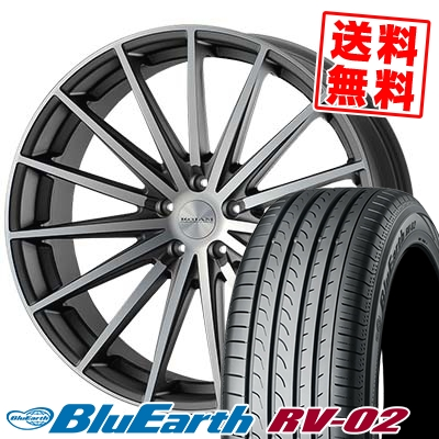 245/40R19 98W XL YOKOHAMA ヨコハマ BLUE EARTH RV02 ブルーアース RV-02 ROJAM Spread ロジャム スプレッド サマータイヤホイール4本セット