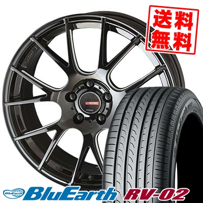 245/40R19 98W XL YOKOHAMA ヨコハマ BLUE EARTH RV02 ブルーアース RV-02 CIRCLAR RM-7 サーキュラー RM-7 サマータイヤホイール4本セット