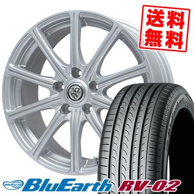 205/65R15 94H YOKOHAMA ヨコハマ BLUE EARTH RV02 ブルーアース RV-02 TRG-SS10 TRG SS10 サマータイヤホイール4本セット