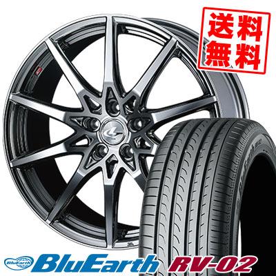 215/45R17 91W XL YOKOHAMA ヨコハマ BLUE EARTH RV02 ブルーアース RV-02 weds LEONIS SV ウェッズ レオニス SV サマータイヤホイール4本セット