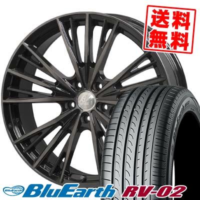 245/35R20 95W XL YOKOHAMA ヨコハマ BLUE EARTH RV02 ブルーアース RV02 2080-5H クリフクライム TC04 サマータイヤホイール4本セット