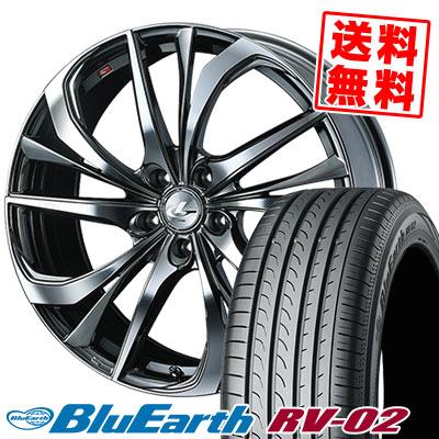 245/35R20 95W XL YOKOHAMA ヨコハマ BLUE EARTH RV02 ブルーアース RV-02 weds LEONIS TE ウェッズ レオニス TE サマータイヤホイール4本セット