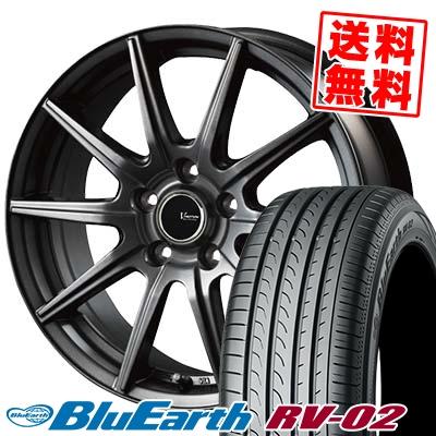 235/55R17 103W XL YOKOHAMA ヨコハマ BLUE EARTH RV02 ブルーアース RV-02 V-EMOTION GS10 Vエモーション GS10 サマータイヤホイール4本セット