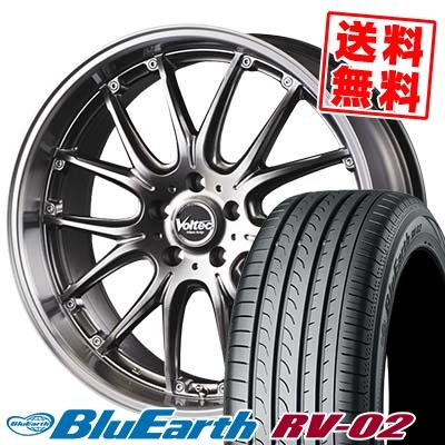 235/60R18 103W YOKOHAMA ヨコハマ BLUE EARTH RV02 ブルーアース RV-02 VOLTEC HYPER MS SPECIAL ボルテック ハイパーMS スペシャル サマータイヤホイール4本セット
