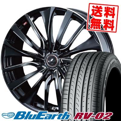 215/55R17 94V YOKOHAMA ヨコハマ BLUE EARTH RV02 ブルーアース RV-02 weds LEONIS VT ウエッズ レオニス VT サマータイヤホイール4本セット【取付対象】