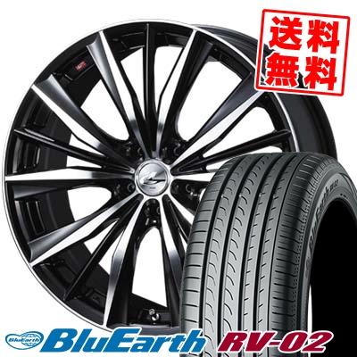 245/35R20 95W XL YOKOHAMA ヨコハマ BLUE EARTH RV02 ブルーアース RV02 2080-5H ウエッズ レオニス VX サマータイヤホイール4本セット