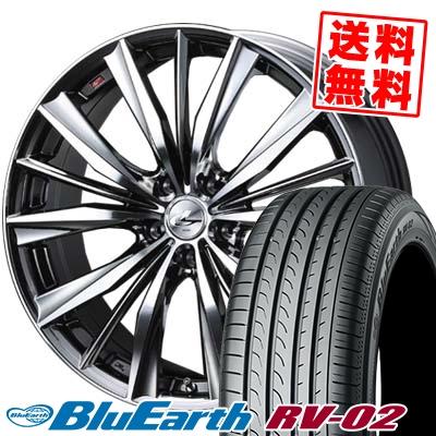 納得できる割引 245/35R20 95W XL YOKOHAMA ヨコハマ BLUE EARTH RV02 ブルーアース RV-02 weds LEONIS VX ウエッズ レオニス VX サマータイヤホイール4本セット, マイコレクション dd193376