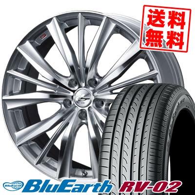 225/40R19 93W XL YOKOHAMA ヨコハマ BLUE EARTH RV02 ブルーアース RV-02 weds LEONIS VX ウエッズ レオニス VX サマータイヤホイール4本セット