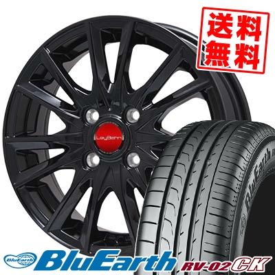 185/70R14 88S YOKOHAMA ヨコハマ BLUE EARTH RV02 CK ブルーアース RV-02 CK LeyBahn GBX レイバーン GBX サマータイヤホイール4本セット