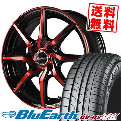 155/65R14 75H YOKOHAMA ヨコハマ BLUE EARTH RV02 CK ブルーアース RV-02 CK EuroSpeed S810 ユーロスピード S810 サマータイヤホイール4本セット