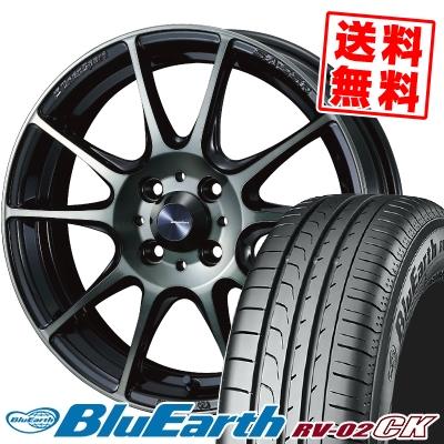 185/65R15 88H YOKOHAMA ヨコハマ BLUE EARTH RV02 CK ブルーアース RV-02 CK WedsSport SA-25R ウェッズスポーツ SA-25R サマータイヤホイール4本セット