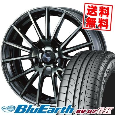 185/65R15 88H YOKOHAMA ヨコハマ BLUE EARTH RV02 CK ブルーアース RV-02 CK WedsSport SA-35R ウェッズスポーツ SA-35R サマータイヤホイール4本セット