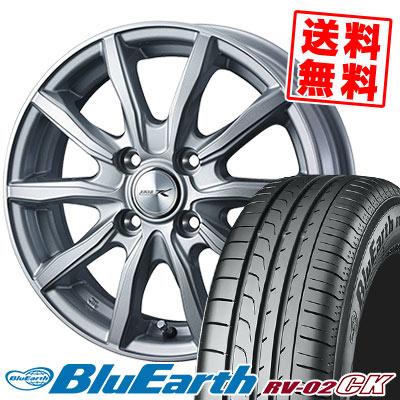 155/65R14 75H YOKOHAMA ヨコハマ BLUE EARTH RV02 CK ブルーアース RV-02 CK JOKER SHAKE ジョーカー シェイク サマータイヤホイール4本セット