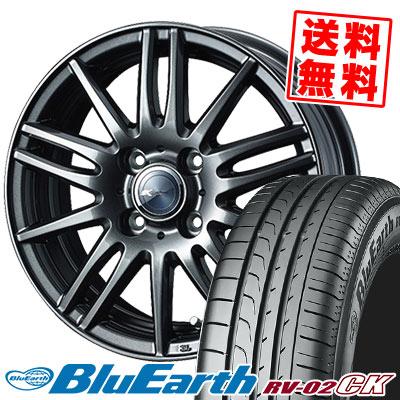 185/65R15 88H YOKOHAMA ヨコハマ BLUE EARTH RV02 CK ブルーアース RV-02 CK Zamik Tito ザミック ティート サマータイヤホイール4本セット
