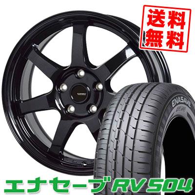 215/65R16 98H DUNLOP ダンロップ ENASAVE RV504 エナセーブ RV504 G.speed G-03 Gスピード G-03 サマータイヤホイール4本セット